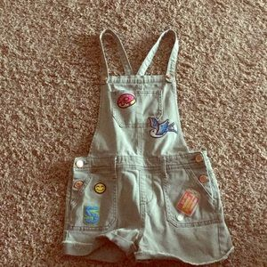 Other - Overalls with colorful patches